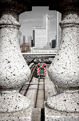 0933 Chicago - Selective Color Poster