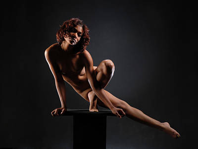 0953 Nude Dancer On Pedicel  Poster by Chris Maher