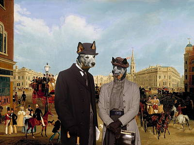 Australian Cattle Dog Art Canvas Print Poster