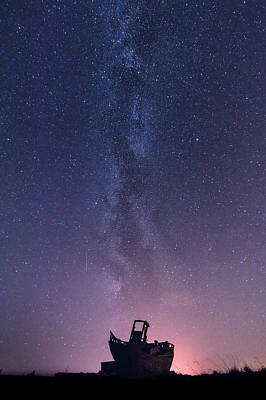 Dungeness Under The Milky Way  Poster by Ian Hufton
