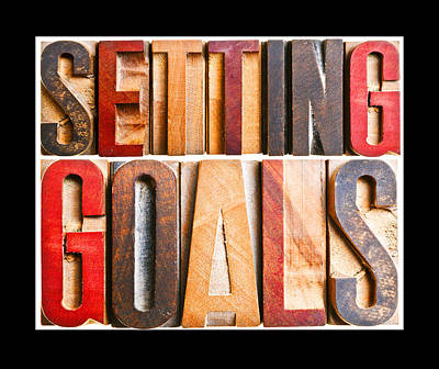 Setting Goals Poster by Donald  Erickson