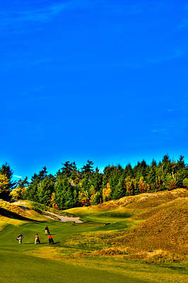 #12 At Chambers Bay Golf Course - Location Of The 2015 U.s. Open Tournament Poster by David Patterson