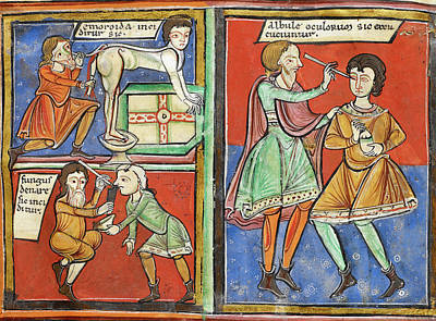 12th Century Medical Manuscript Poster by British Library