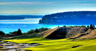 #14 At Chambers Bay Golf Course - Location Of The 2015 U.s. Open Tournament Poster by David Patterson