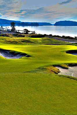 #17 At Chambers Bay Golf Course - Location Of The 2015 U.s. Open Championship Poster by David Patterson