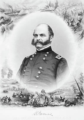 1800s 1860s Portrait Major General Poster