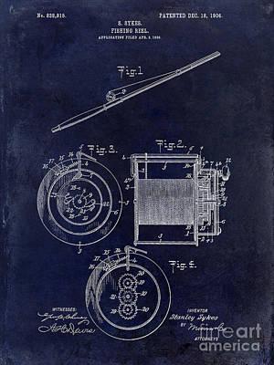 1906 Fishing Reel Patent Poster