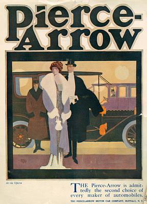 1910s Usa Pierce-arrow Magazine Advert Poster
