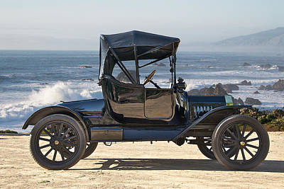 1915 Ford Model T Roadster Poster by Dave Koontz