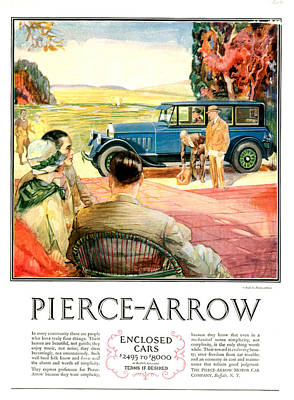 1920s Usa Pierce-arrow Magazine Advert Poster by The Advertising Archives