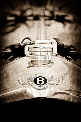 1925 Bentley 3-liter 100mph Supersports Brooklands Two-seater Radiator Cap Poster by Jill Reger