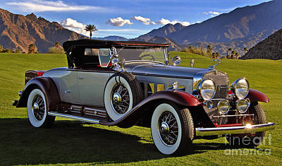 1930 Cadillac Fleetwood Roadster V16 Poster by Howard Koby