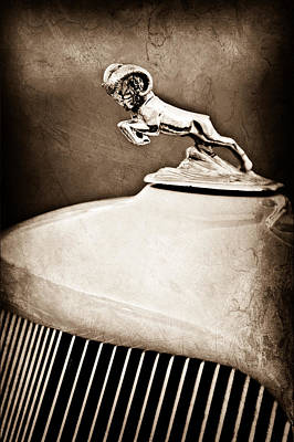 1933 Dodge Ram Hood Ornament - Grille Poster by Jill Reger