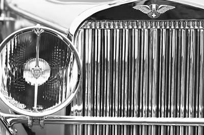 1933 Hispano-suiza J12 Vanvooren Coupe Grille Emblem Poster