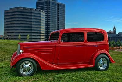1934 Chevrolet Sedan Hot Rod Poster