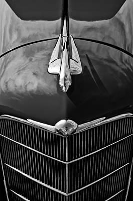 1934 Oldsmobile Hood Ornament Poster by Jill Reger
