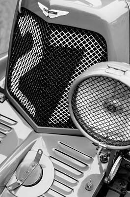 1935 Aston Martin Ulster Race Car Grille Poster by Jill Reger