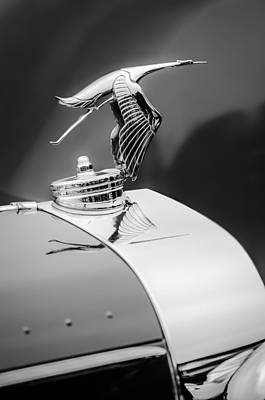 1935 Hispano-suiza J12 Vanvooren Cabriolet Hood Ornament -2425c Poster by Jill Reger