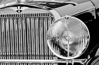 1936 Hispano-suiza J12 Saoutchik Cabriolet Grille Emblem Poster by Jill Reger
