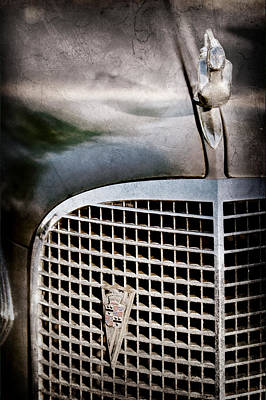 1937 Cadillac Hood Ornament And Grille Emblem Poster by Jill Reger