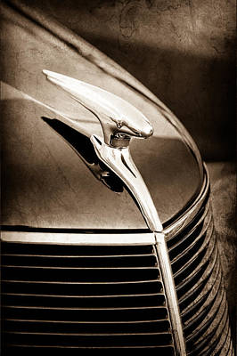 1937 Ford Hood Ornament Poster by Jill Reger