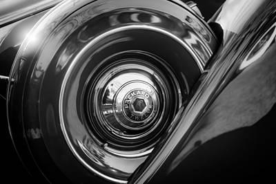 1937 Packard 1508 Dietrich Convertible Sedan Spare Tire Poster by Jill Reger