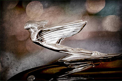 1938 Cadillac V-16 Presidential Convertible Parade Limousine Hood Ornament Poster