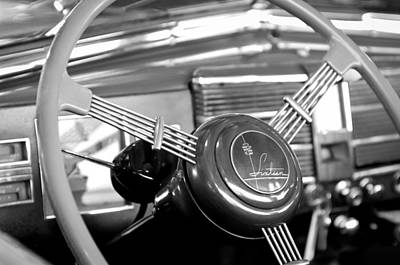 1938 Cadillac V-16 Presidential Convertible Parade Limousine Steering Wheel Poster