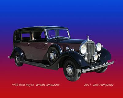 1938 Rolls Royce Limousine Poster by Jack Pumphrey