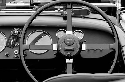 1939 Aston Martin 15-98 Abbey Coachworks Swb Sports Steering Wheel Poster by Jill Reger