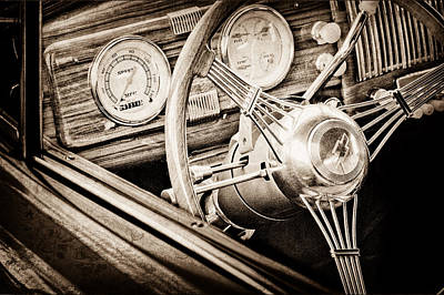 1940 Chevrolet Steering Wheel Poster