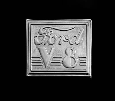 1940 Ford Coupe V8 Emblem Poster by Jill Reger
