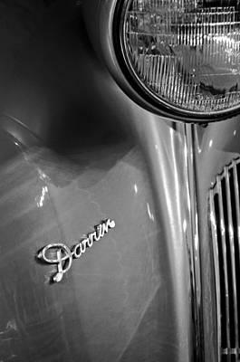 1940 Packard Super Eight One-eighty Darrin Convertible Sedan Headlight Emblem Poster by Jill Reger