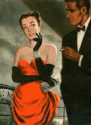 1940s Uk Woman Magazine Plate Poster