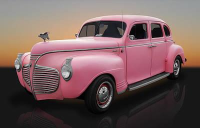 1941 Plymouth 4 Door Sedan Poster by Frank J Benz