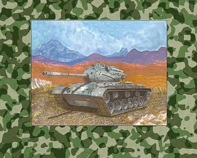 1942 General Patton M 47 Medium Tank Poster by Jack Pumphrey