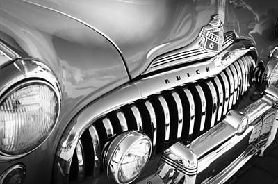 1947 Buick Eight Super Grille Emblem Poster by Jill Reger