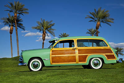 1949 Ford Woodie Poster by Robert Jensen