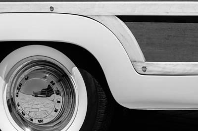 1949 Mercury Station Woodie Wagon Wheel Emblem - Hood Ornament Poster by Jill Reger
