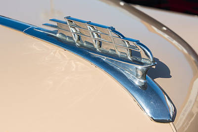 1949 Plymouth Hood Ornament Poster