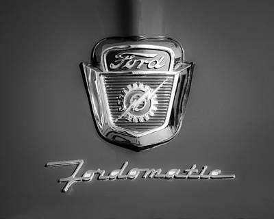 1950's Ford F-100 Fordomatic Pickup Truck Hood Emblems Poster by Jill Reger