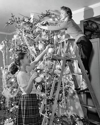 1950s Mother And Daughter Decorating Poster