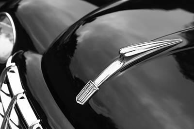 1951 Fiat Hood Ornament - Emblem Poster by Jill Reger