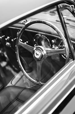 1952 Ferrari 212 Inter Vignale Coupe Steering Wheel Emblem Poster by Jill Reger