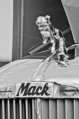 1952 L Model Mack Pumper Fire Truck Hood Ornament Poster