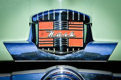 1952 Nash Rambler Greenbrier Station Wagon Emblem Poster by Jill Reger