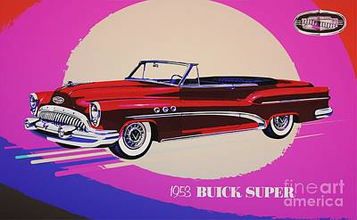 1953 Buick Super 56c Convertible Poster