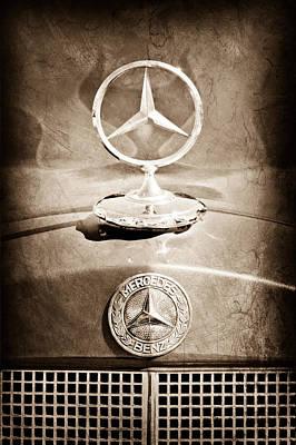 1953 Mercedes Benz Hood Ornament Poster by Jill Reger