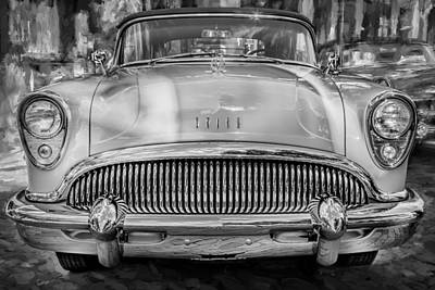 1954 Buick Skylark Convertible Painted Bw   Poster by Rich Franco