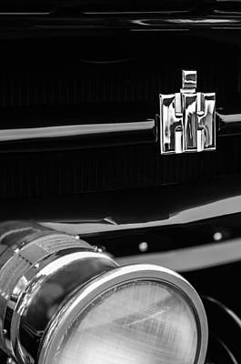 1954 International Harvester R140 Woody Grille Emblem Poster
